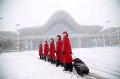 郑州高铁乘务学校雪中风采