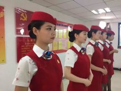 郑州高铁乘务学校学员微笑训练